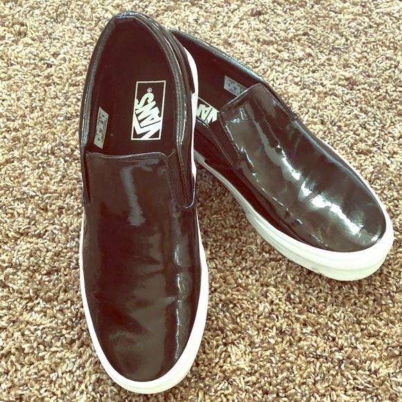 1b1a90633fb5 Patent Leather Vans Slip Ons Iridescent 8.5. M 5aff79dc5512fd57cb088c9c